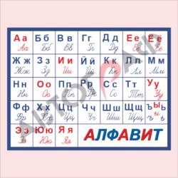 № 25 Алфавит размер 1000х750мм
