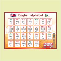 №58 Английский алфавит размер 700х500