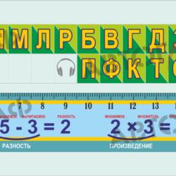 № 30 Лента букв и цифр размер 1300х160мм 2шт