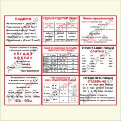 Русский язык № 02 размер 500х400мм 9шт