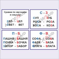 Русский язык № 04 размер 700х500мм 4шт